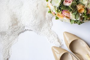 Wedding beige colors mock up image