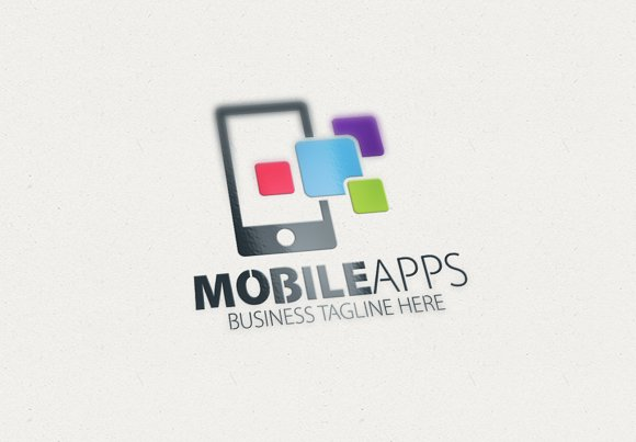 Mobile Apps Logo ~ Logo Templates ~ Creative Market