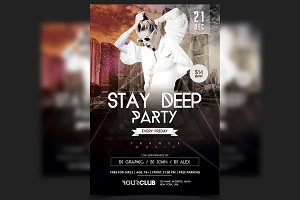 Stay Deep - PSD Party Flyer