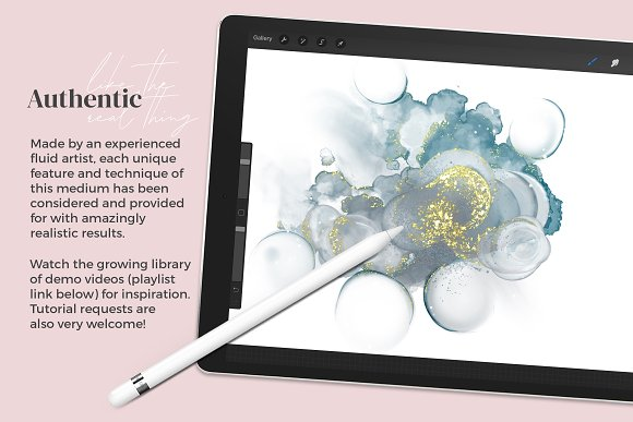 Amazing Alcohol Ink for Procreate in Add-Ons - product preview 3