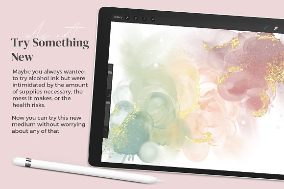 Amazing Alcohol Ink for Procreate in Add-Ons - product preview 12