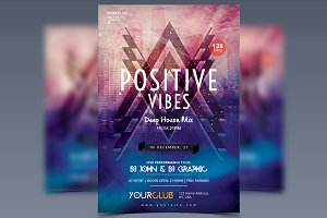 Positive Vibes - PSD Flyer