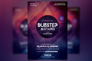Dubstep Mixtapes - PSD Flyer