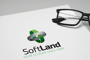 SoftLand Business Clean Logo
