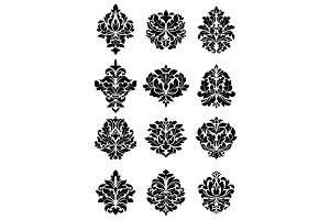 Bold floral arabesque motifs