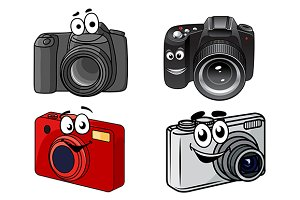 Cartoon digital cameras