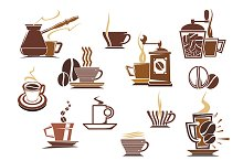 Various coffee icons