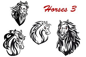 Cartoon horse characters