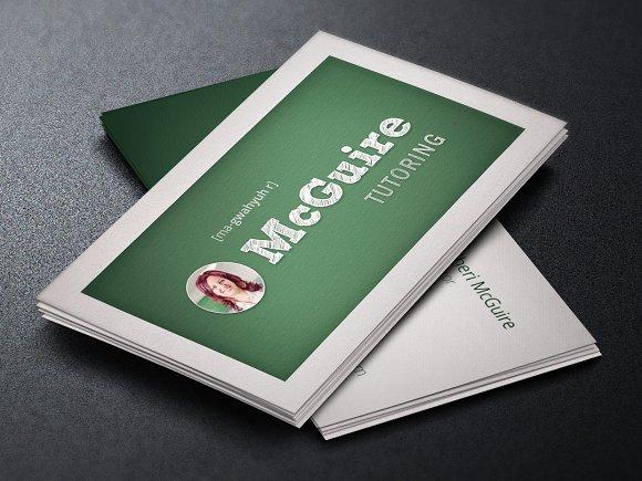 tutor business card template business card templates creative market