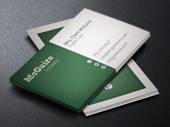 Tutor business card template business card templates creative market colourmoves