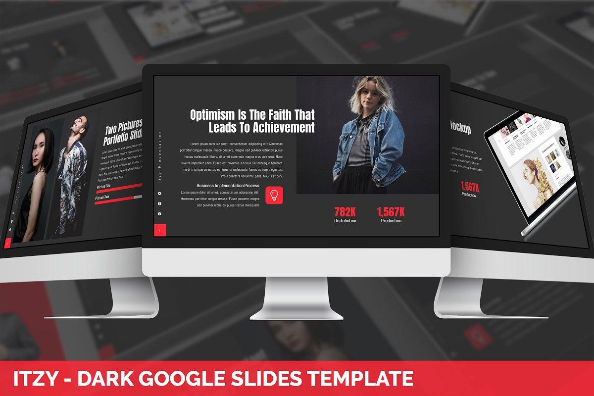 Itzy - Dark Google Slides Template