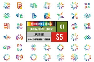 36 Graphic Element Bundle #1