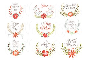Hand Drawn Floral wreath for Mather'