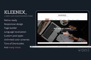 Kleenex - Minimalist WordPress Theme