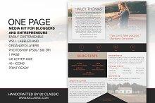 One Page Media Kit Design