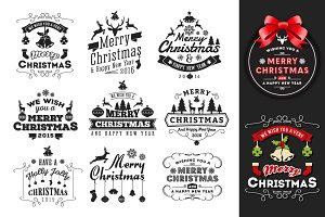 Christmas & New Year Badges & Label