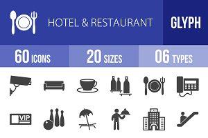 60 Hotel & Restaurant Glyph Icons
