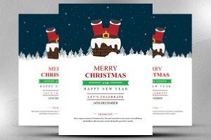 Christmas & Happy New Year Flyer