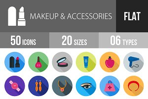 50 Makeup&Accessories Flat Shadowed