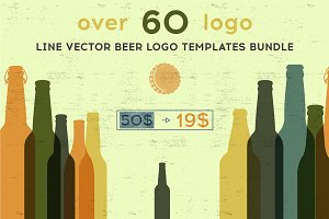 beer logo templates bundle.