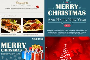 Holiday responsive email+theme