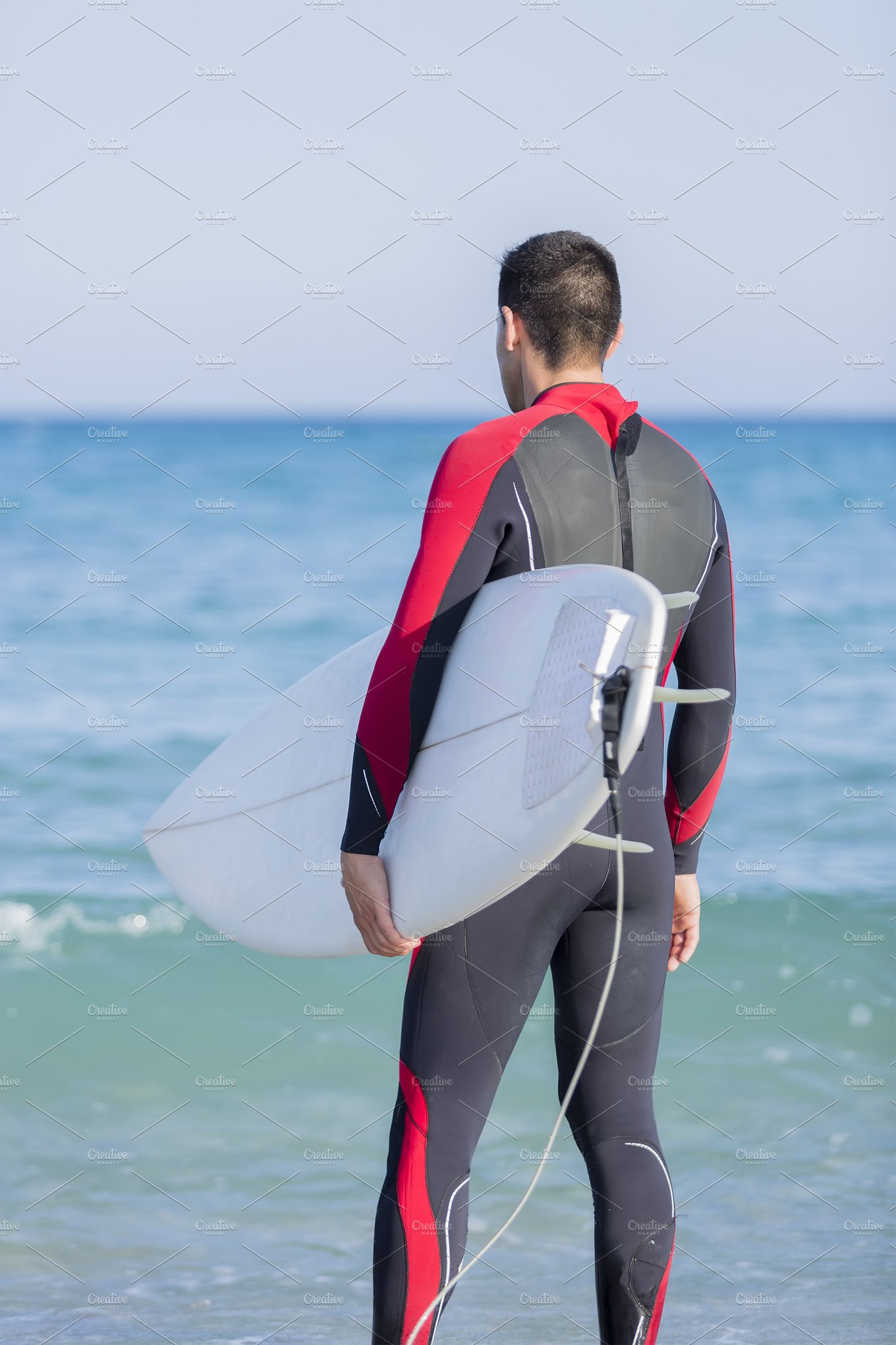 man surfer ready to surf ~ Sports Photos ~ Creative Market 20ad091b3