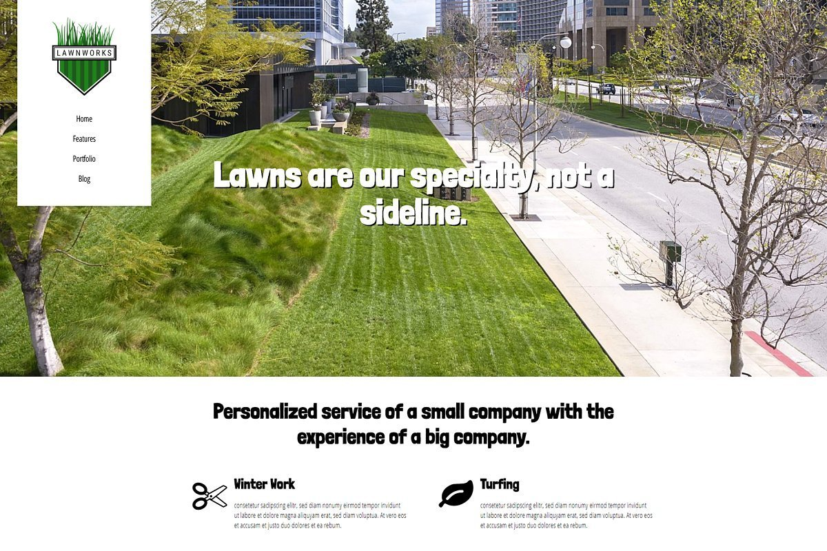 Lawnworks - Lawn Care WP Theme