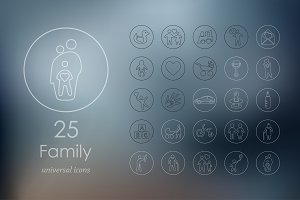 25 family icons