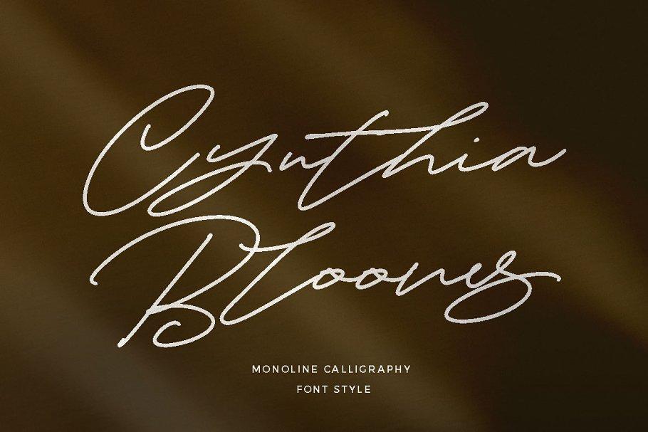 Cynthia Blooms - Ligature Font