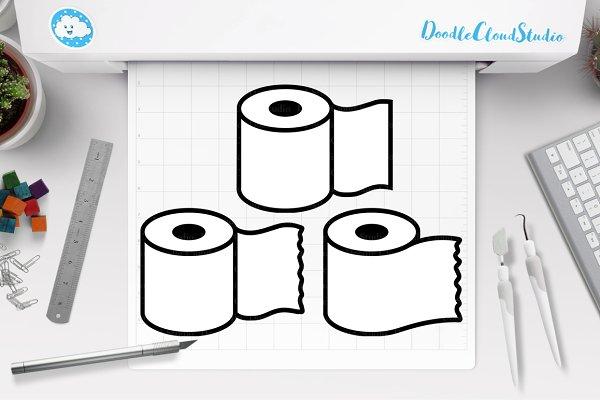 Toilet Paper Svg Toilet Paper Rolls Pre Designed Photoshop Graphics Creative Market