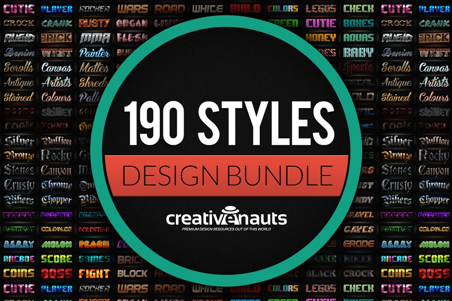 190 Text Effects for Photoshop ~ Other Design Software Add