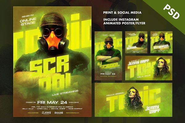 TOXIC Poster / Flyer Pack