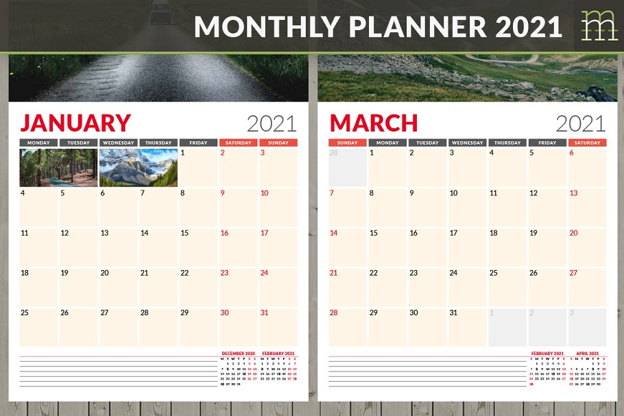 Monthly Planner 2021 (MP017-21-2)