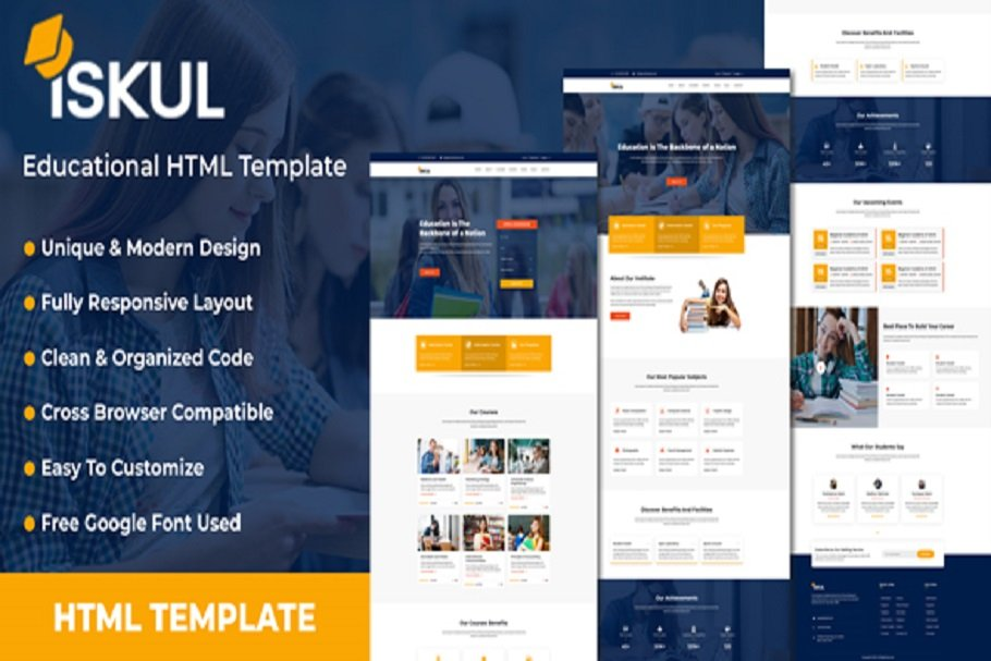ISKUL - Educational Website Template