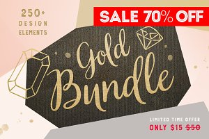 70% OFF - Gold Christmas BUNDLE