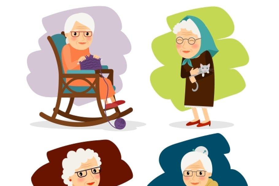 Pleasant Grandmother Cartoon Character Creativecarmelina Interior Chair Design Creativecarmelinacom