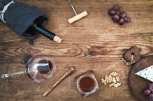 Wine and appetizer set
