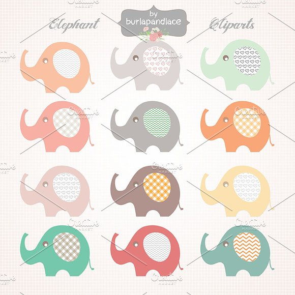 Baby Elephant clipart ~ Illustrations on Creative Market