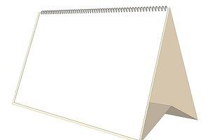 blank desk calendar mockup