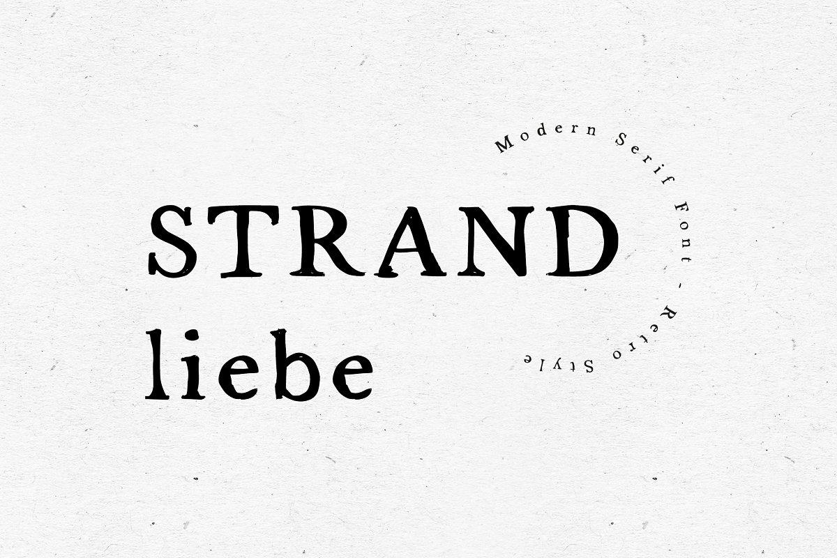 FONT / STRANDLIEBE in Serif Fonts