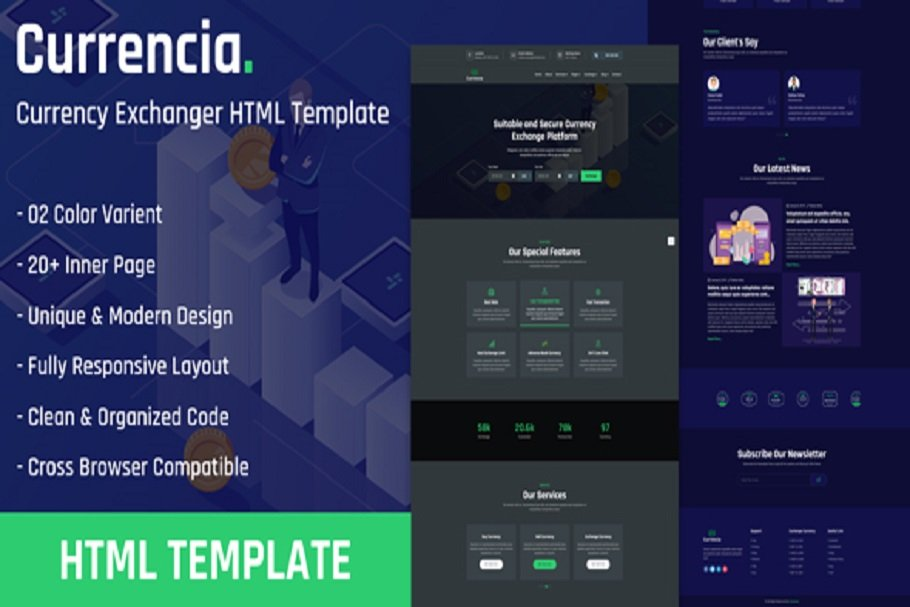 Currency Exchanger HTML Template