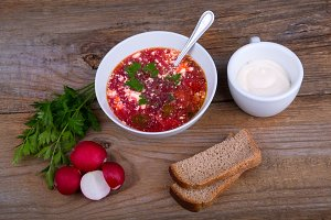 white Bowl of soup-borsch