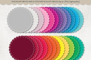 Clip arts Scallop circles