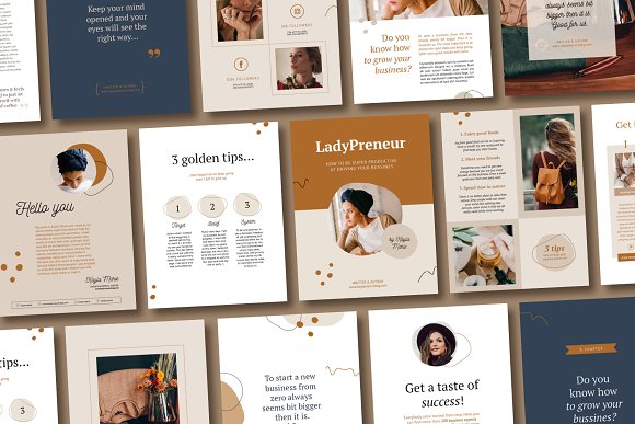 eBook duopack / CANVA, INDD in Magazine Templates - product preview 1