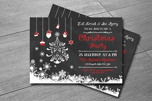 Christmas Invitation template-V135