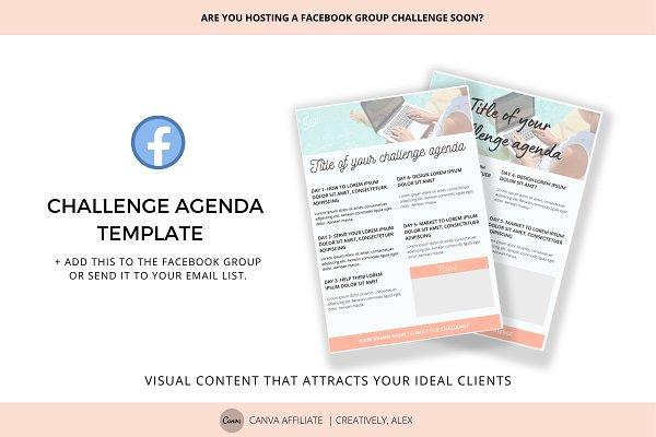 Facebook Challenge Agenda Template