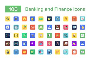 100 Banking and Finance Icons