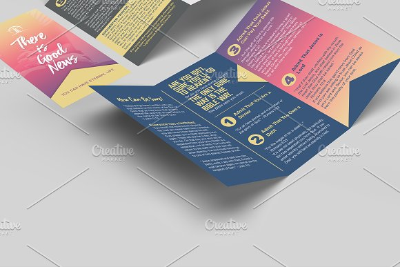 6x9 Trifold Brochure Mockup in Print Mockups - product preview 1