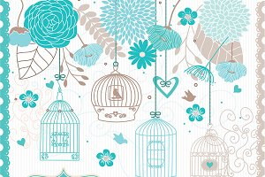 Flower Bird Cage clipart