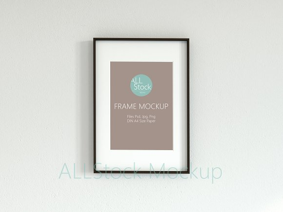 Frame Mockup Din A in Print Mockups - product preview 2